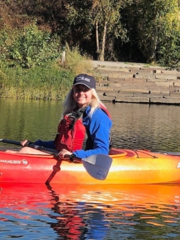 Rachel kayaking
